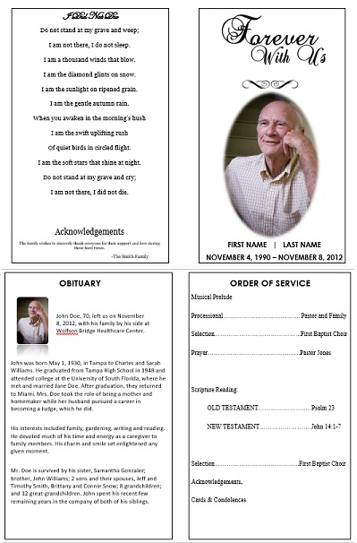 Funeral Program Template for Microsoft Word sNKHFxSw